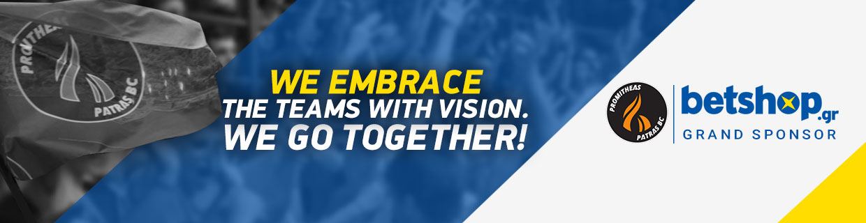GRAND SPONSOR OF PROMITHEAS PATRAS: We embrace teams with great vision!