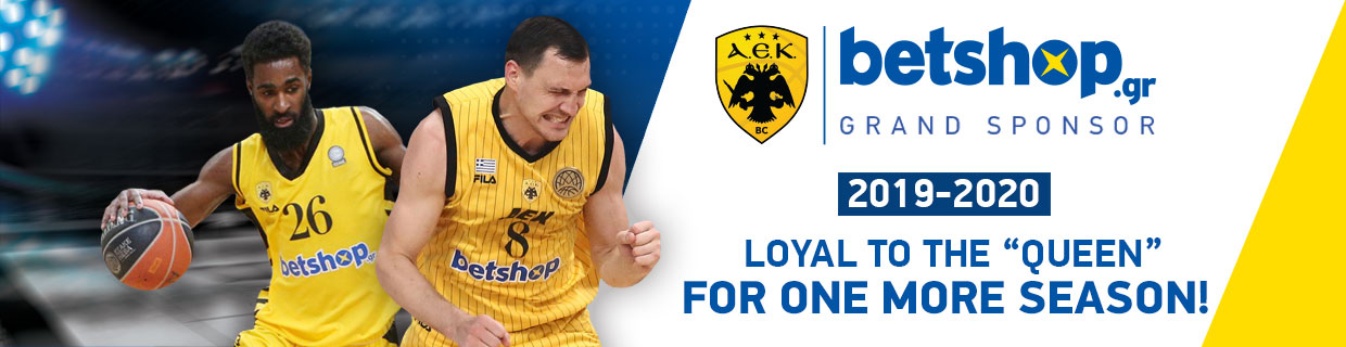 Grand Sponsor AEK BC 2019- 2020. Loyal to the Queen for another season!